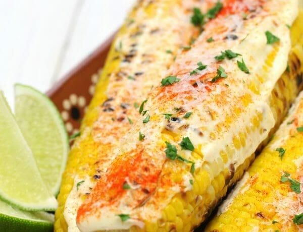 milho grelhado mexicano