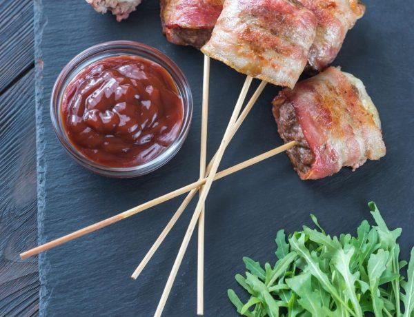 Carne Moída enrolada em Bacon