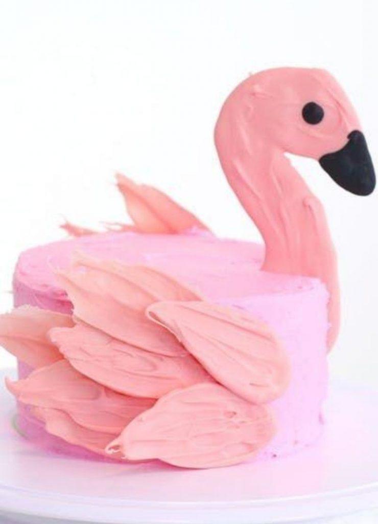 Bolos Infantis de Animais Flamingo