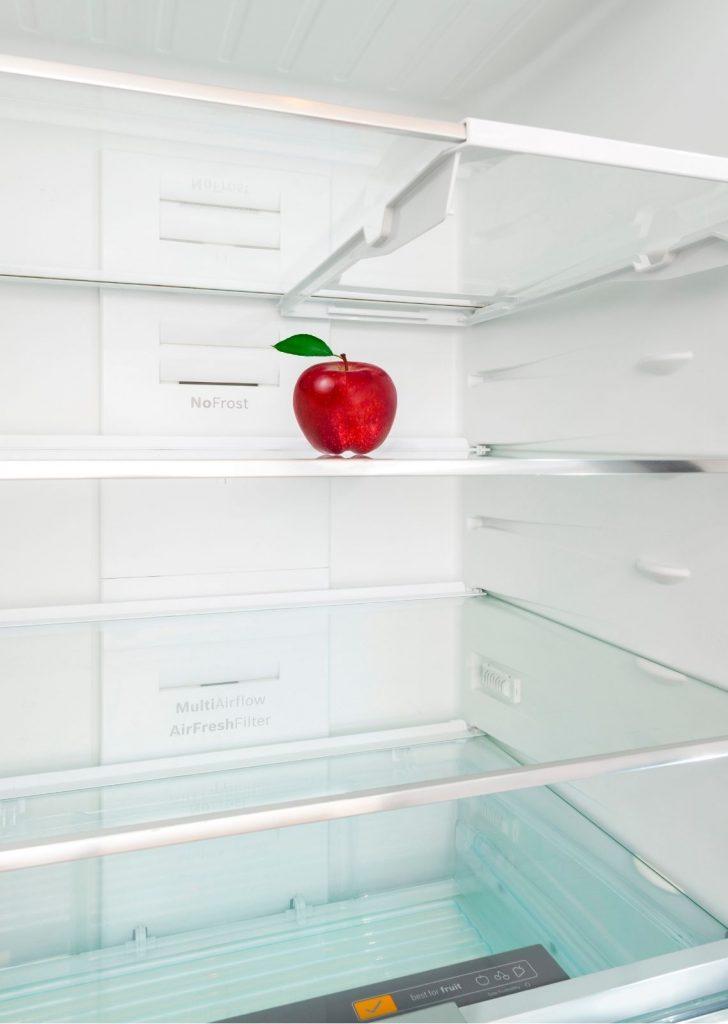limpar a geladeira maca 1