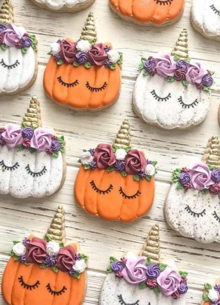 Doces de Halloween Abóboras Unicórnio
