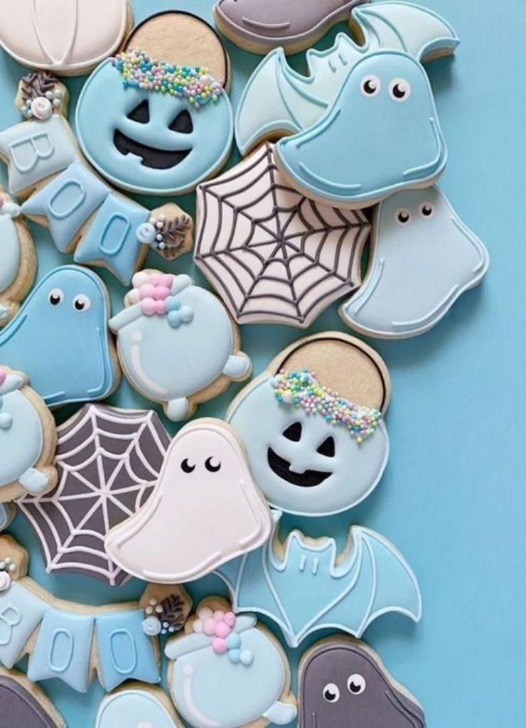 Doces de Halloween Azul