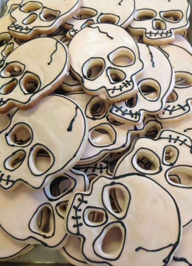 Doces de Halloween Crânios