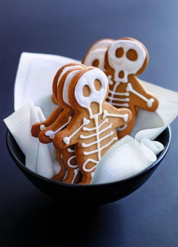 Doces de Halloween Esqueleto
