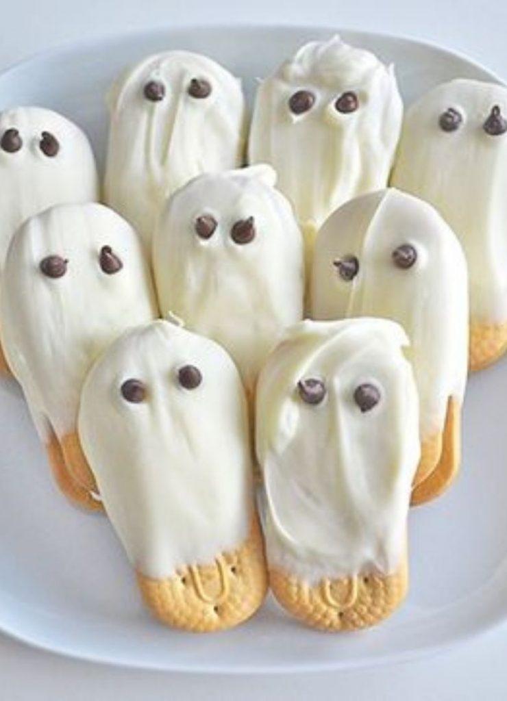 Doces de Halloween Fantasmas DIY