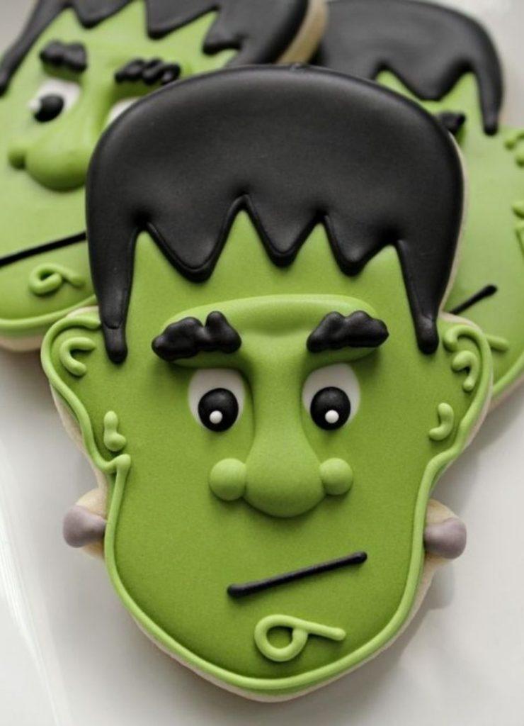 Doces de Halloween Frankenstein