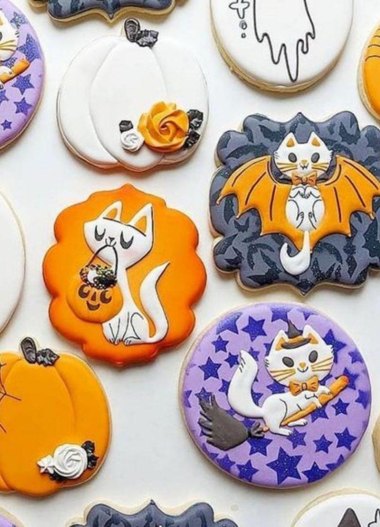 Doces de Halloween Gatinhos