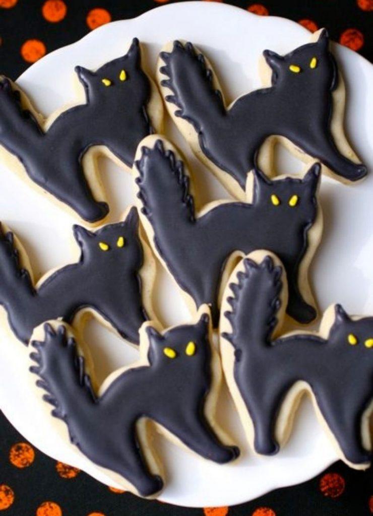 Doces de Halloween Gatos Pretos