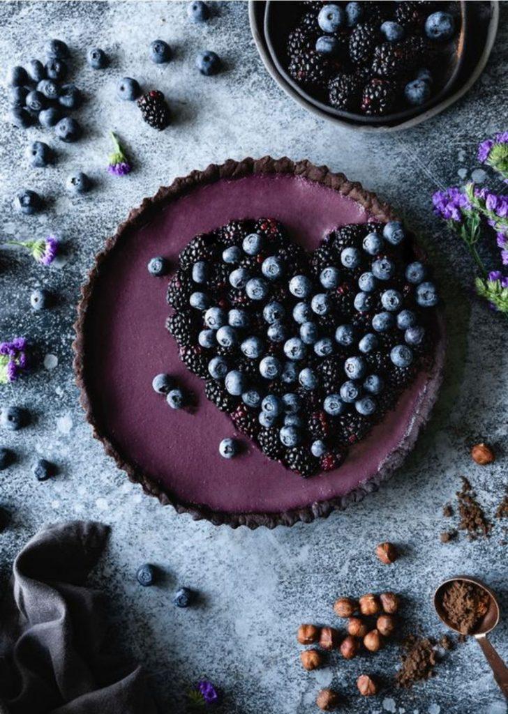 Tortas Doces Blueberry e Amoras