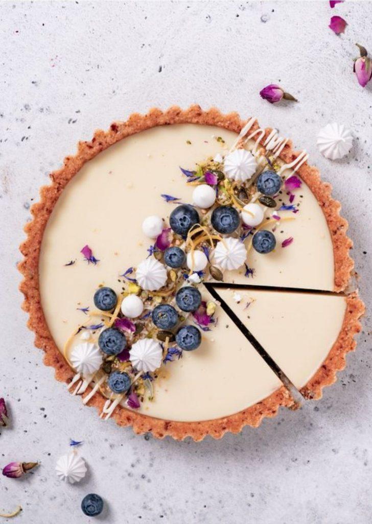 Tortas Doces Chocolate Branco com Blueberry