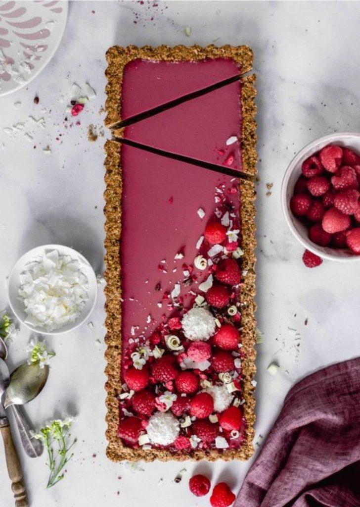 Tortas Doces Framboesa com Coco