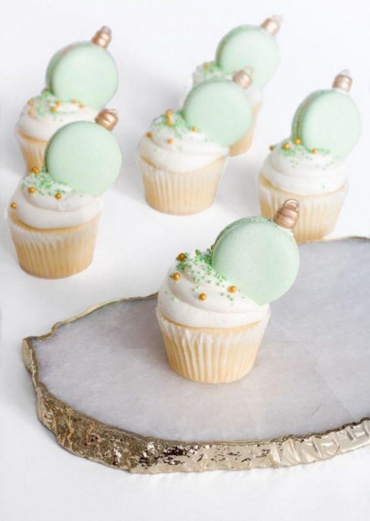 Cupcake com Macaron