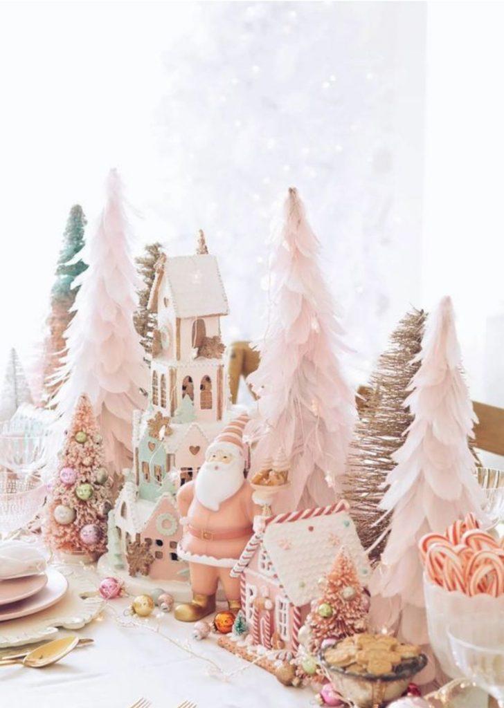 Mesa de Natal Cores Pastéis