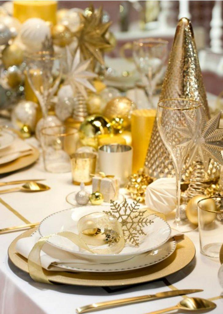 Mesa de Natal Dourado 2