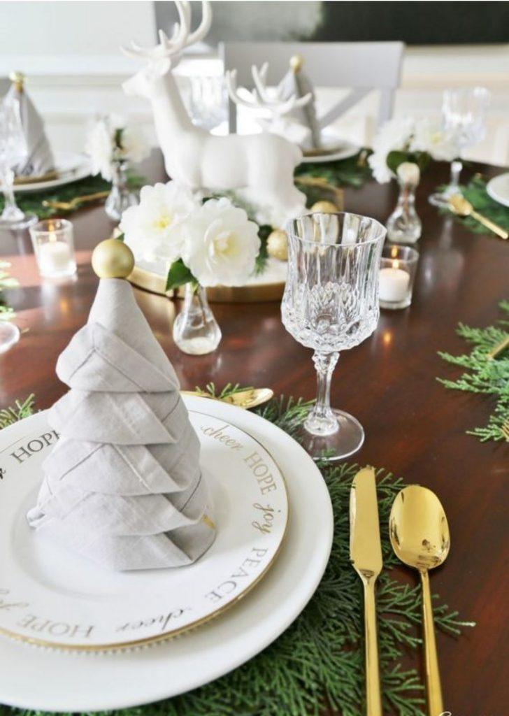 Mesa de Natal Guardanapo Árvore