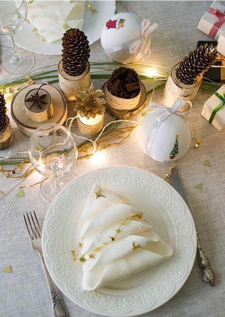 Mesa de Natal Guardanapo