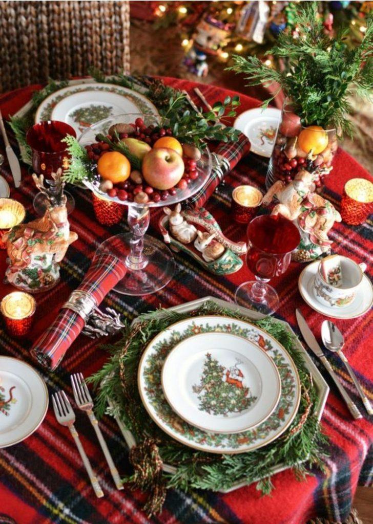 Mesa de Natal Louça Decorada 4