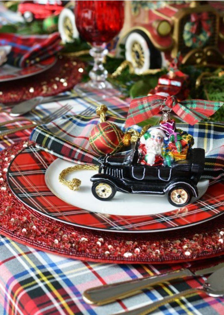 Mesa de Natal Objetos