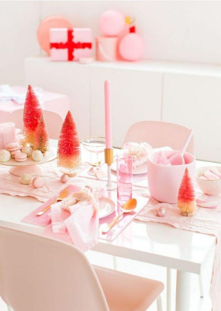 Mesa de Natal Rosa 2