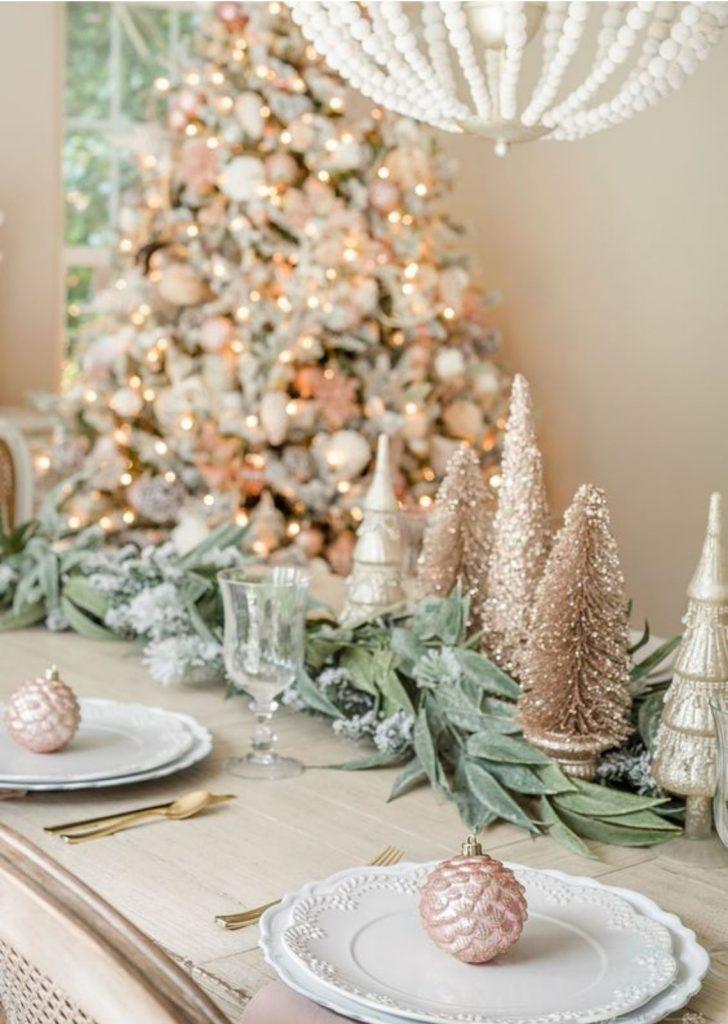 Mesa de Natal Rose Gold 2