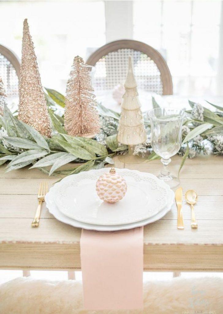 Mesa de Natal Rose Gold