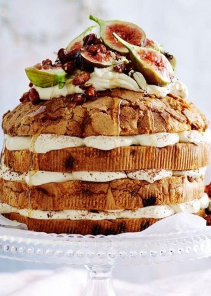 Naked Cake Panetone Figos