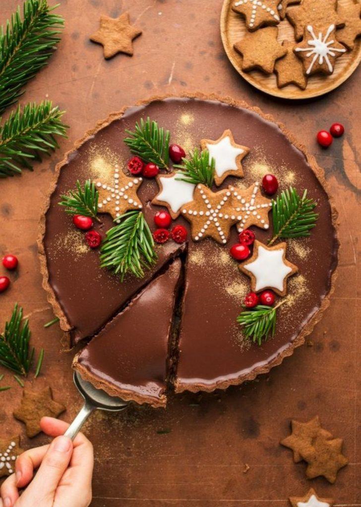 Torta de Chocolate Natalina